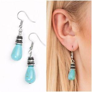 STONE STORMS BLUE EARRINGS